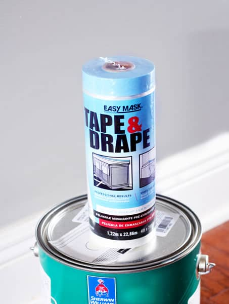 Painting Baseboards, Tape & Drape, DIY, Painting, DIY Painting, Home Projects, Baseboards