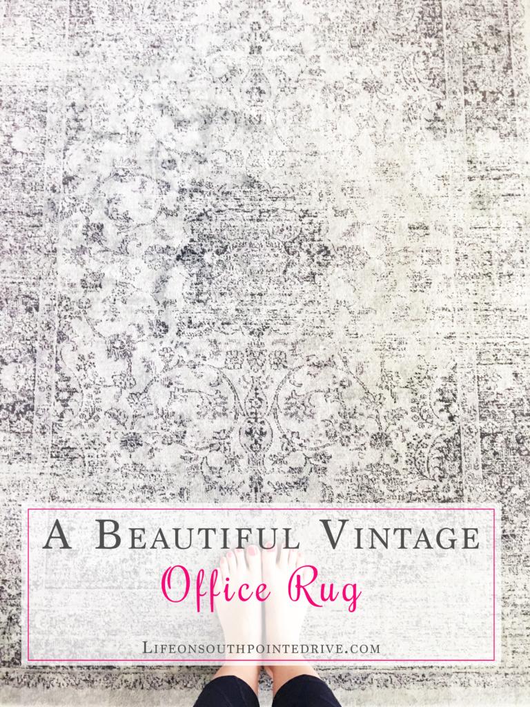 Beautiful Vintage Office Rug, vintage rug, rugs, beautiful rugs, gray rugs