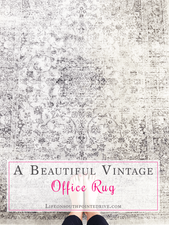 Beautiful Vintage Office Rug, vintage rug, rugs, beautiful rugs, gray rugs