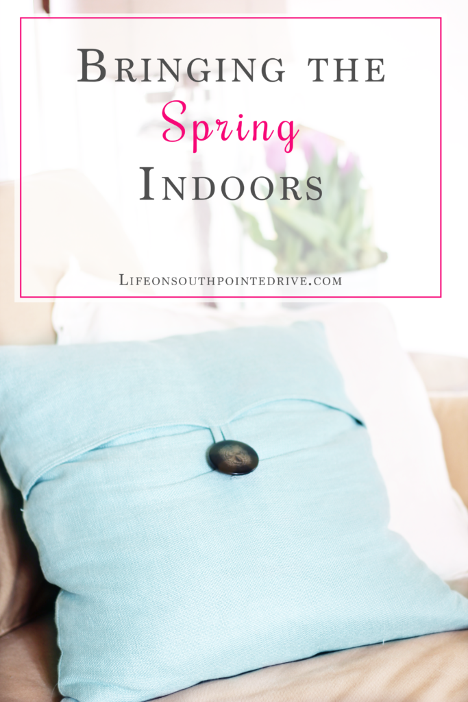 Bring Spring Indoors, Spring, Spring Decorating, Spring decor, spring pillows, spring