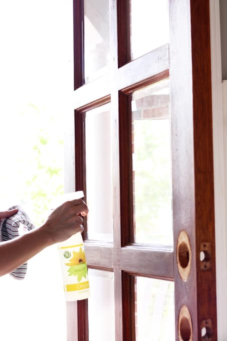 Front door hardware, how to stain a door the easy way, gel stain, general finishes gel stain