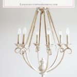 DIY Chalk Paint Chandelier {One Room Challenge, Week 2}