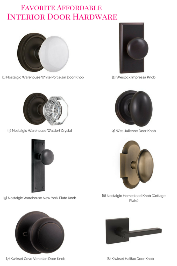 Favorite Affordable Interior Door Hardware, door hardware, changing out door hardware