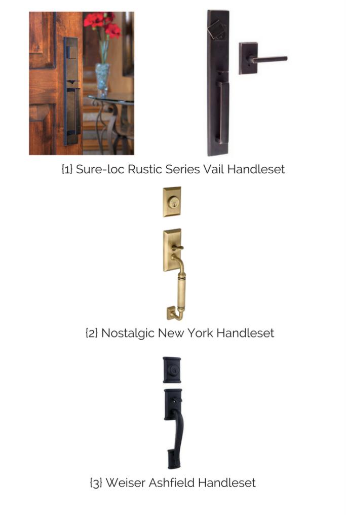 Handleset Options, updating door hardware, door hardware options, exterior door hardware