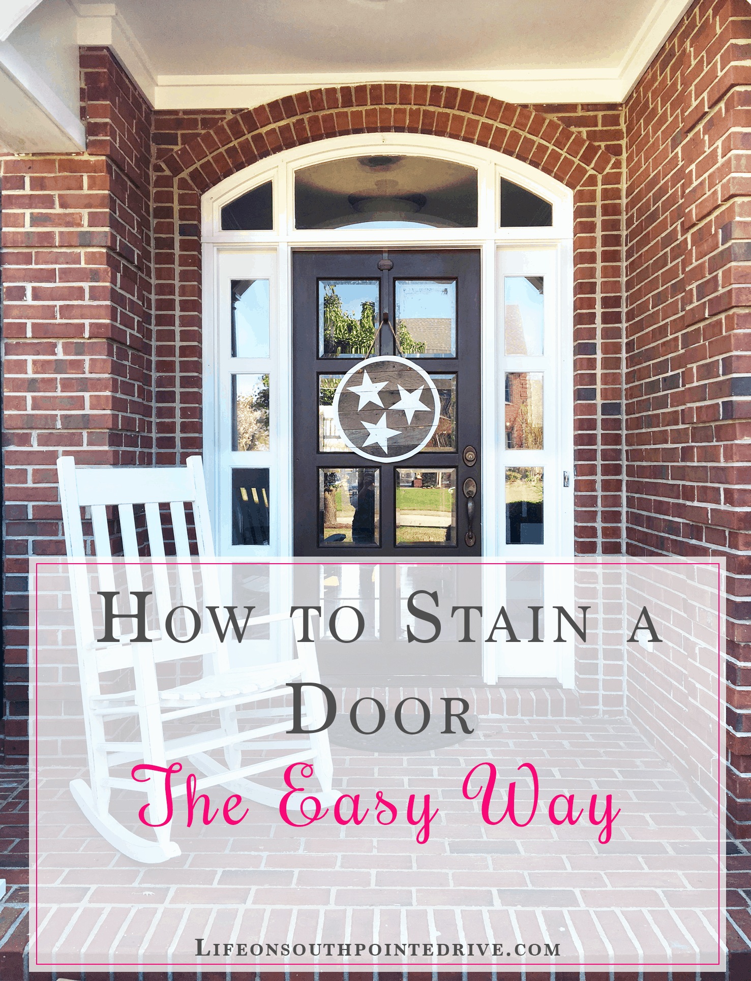How to stain a door the easy way life on southpointe drive how to stain a door the easy way door staining gel stain gel rubansaba