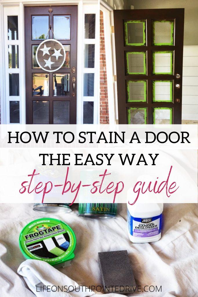 How to Stain a Door
