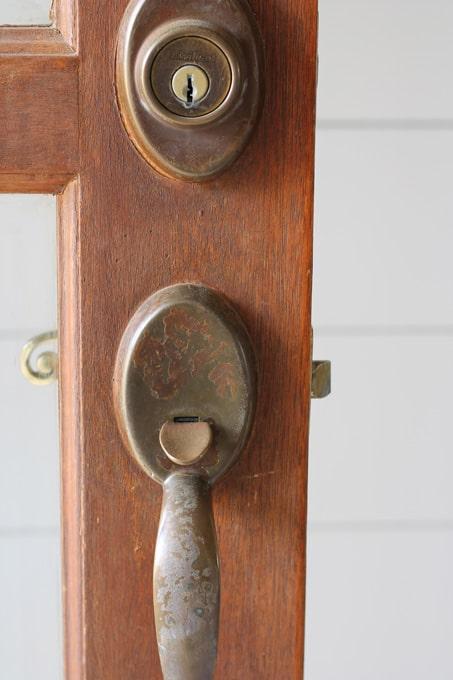 Old door hardware, changing out door hardware, updating door hardware