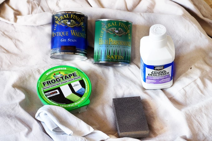 Staining supplies, gel stain, how to stain a front door the easy way, general finishes gel stain
