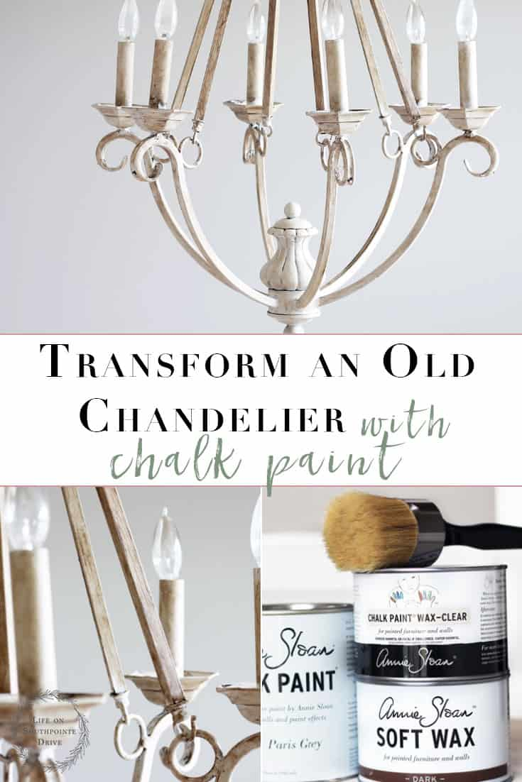 Chalk Paint Chandelier Makeover Easily Transform Your Old