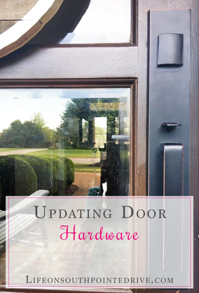 Updated Door Hardware, Door hardware, exterior door, sure-loc, changing door hardware