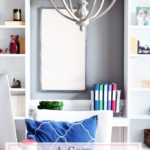 A Cozy Home Office Makeover {One Room Challenge Reveal}