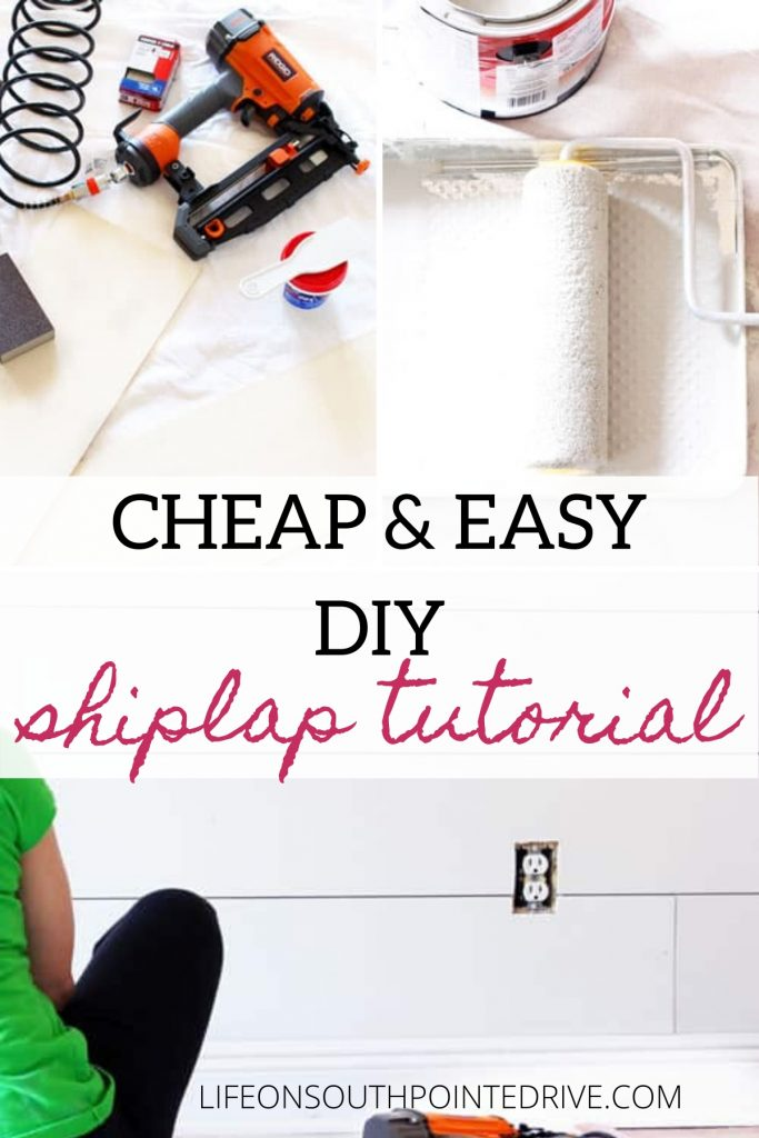 Cheap and Easy DIY Shiplap