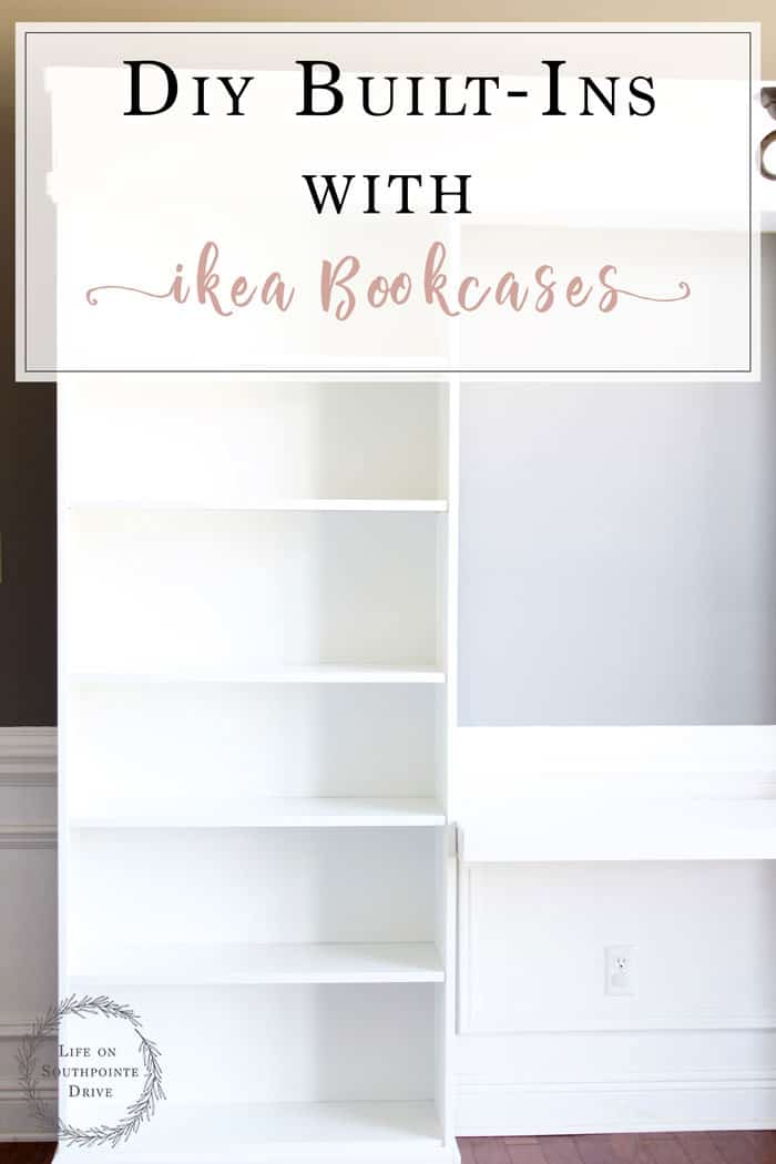 DIY Built Ins With Ikea Bookcases