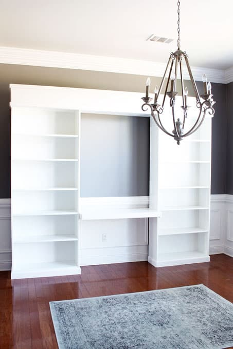 Ikea Billy Built-ins, Ikea billy, built-ins, ikea built-ins, ikea bookcase, billy bookcase, billy bookcase built-ins, home office, home office built-ins, DIY Built-ins