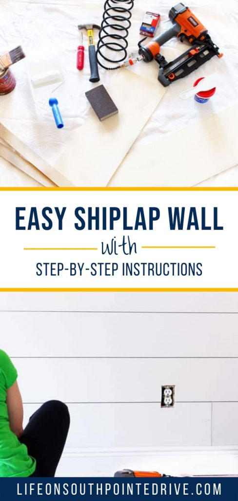 Easy Shiplap Wall