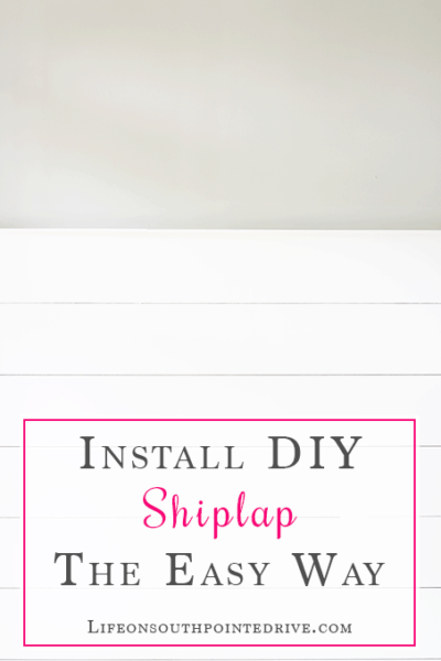 Install DIY Shiplap: The Easy Way