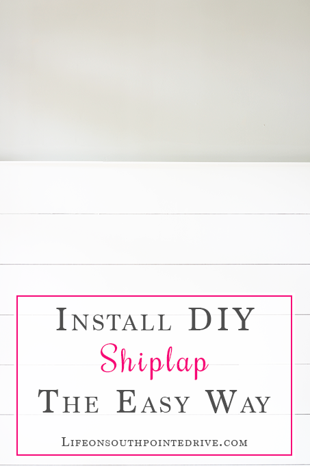 Install DIY Shiplap The Easy Way, DIY Shiplap, Cheap DIY Shiplap, Shiplap, Install Shiplap, Shiplap Entryway How to Install Shiplap