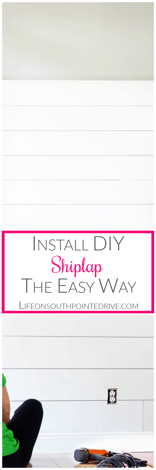 Home - Install DIY Shiplap the Easy Way, Easy Shiplap, DIY Shiplap, Shiplap Tutorial, Easy Shiplap, Easy DIY Shiplap Walls