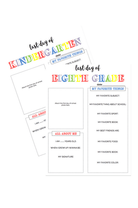 """All About Me"" Last Day of School FREE Printable"