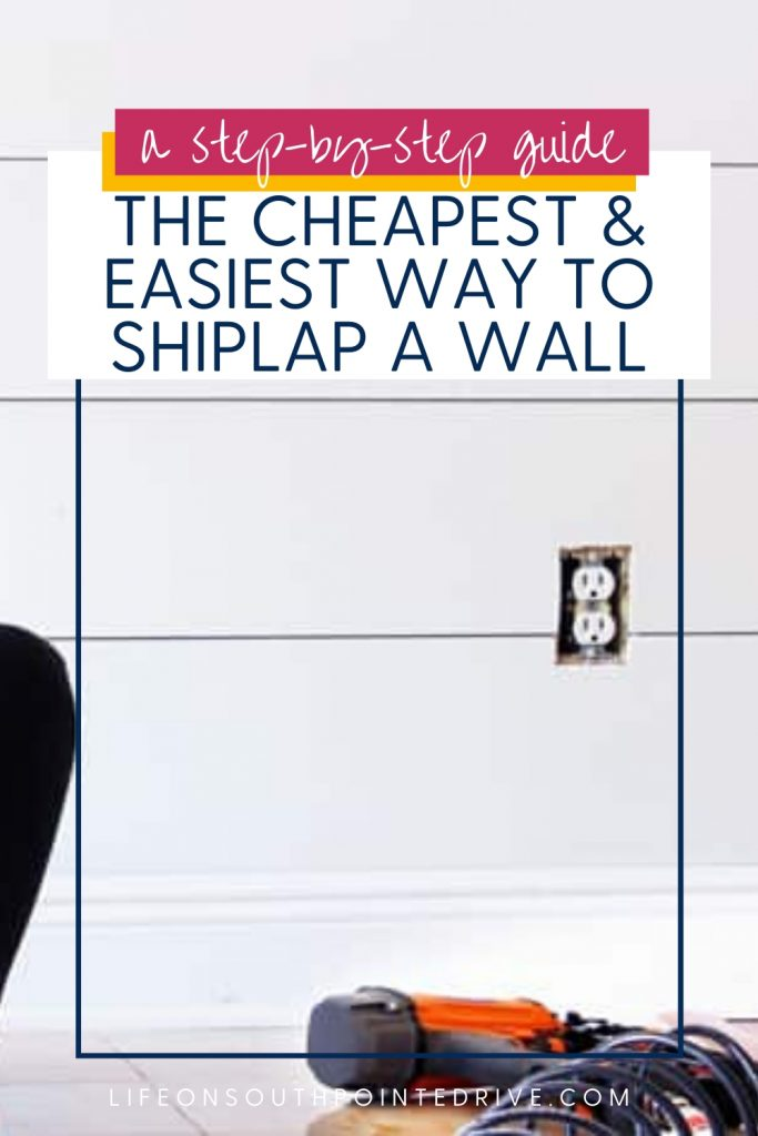 Cheap and Easy Shiplap Wall