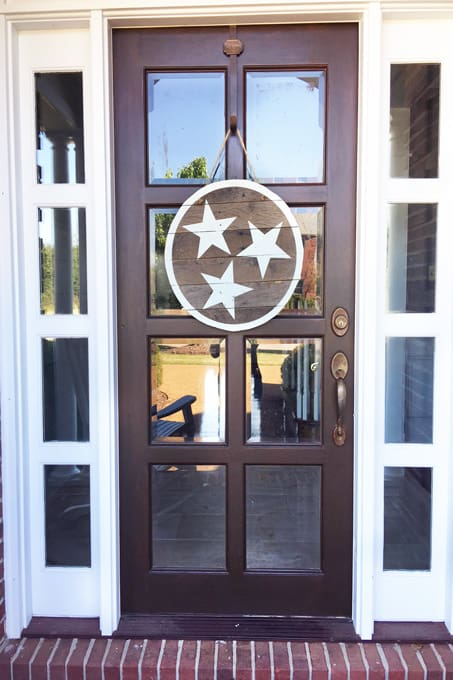 DIY - How to stain a door the easy way with gel stain, how to stain a door the easy way, gel stain, how to use gel stain, general finishes gel stain, how to stain a door