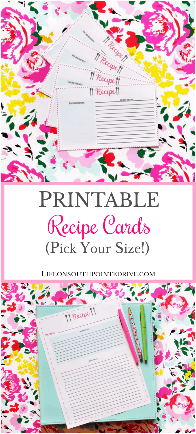 It is a picture of Dramatic Printable Recipe Card