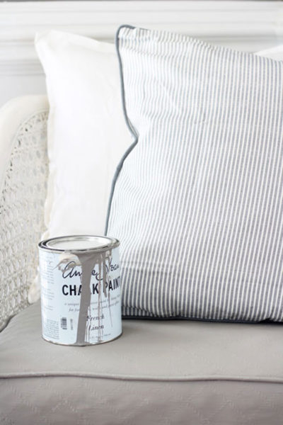 How to Paint an Upholstered Chair with Chalk Paint