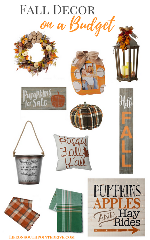 Home Decor-Fall Decor on a Budget, fall decorating, fall decor, decorating for fall, budget fall decor, fall home decor