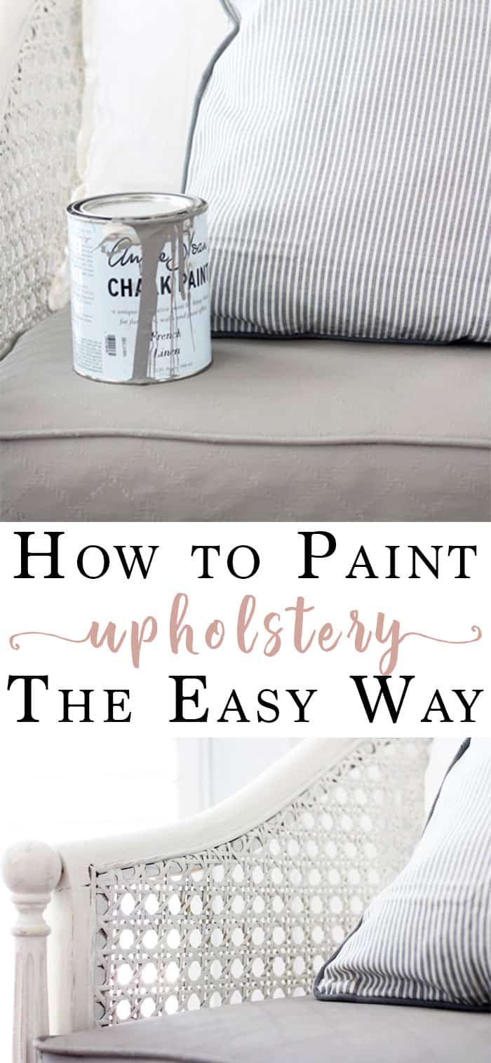 Paint an Upholstered Chair | Such an awesome idea to transform an old chair by simply painting the upholstery on an old chair! Follow this easy step-by-step to learn how to paint an upholstered chair with chalk paint. | chalk painted chair, chalk painted furniture, chalk painted furniture ideas, how to paint upholstery #chalkpaint #paintingtips #furniturepainting