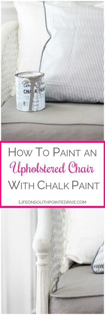 How to Paint an Upholstered Chair with Chalk Paint, how to paint an upholstered chair, painting fabric, caneback chair, chair makeover, painting a chair, painted chair