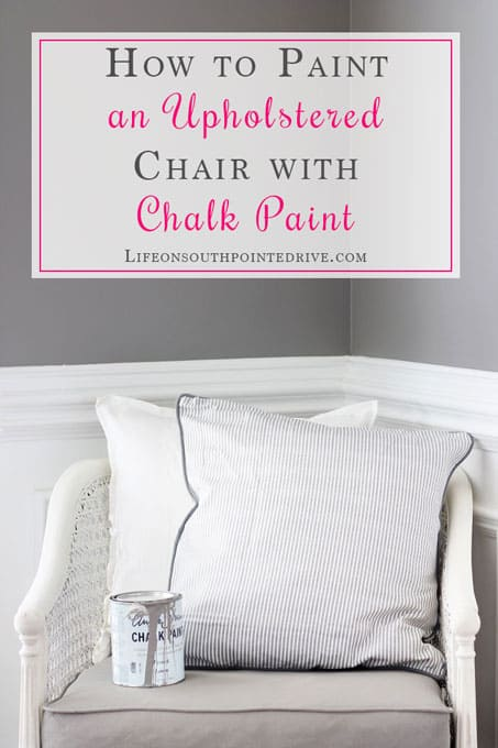 DIY - How-to-Paint-an-Upholstered-Chair-with-Chalk-Paint, how to paint an upholstered chair, painting fabric, caneback chair, chair makeover, painting a chair, painted chair