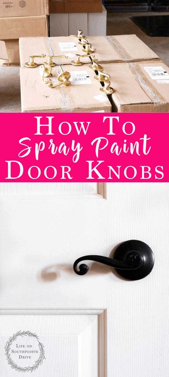 How to Spray Paint Door Knobs, updated door hardware, how to update door hardware, budget friendly door hardware, spray painted door knobs, oil rubbed bronze spray paint
