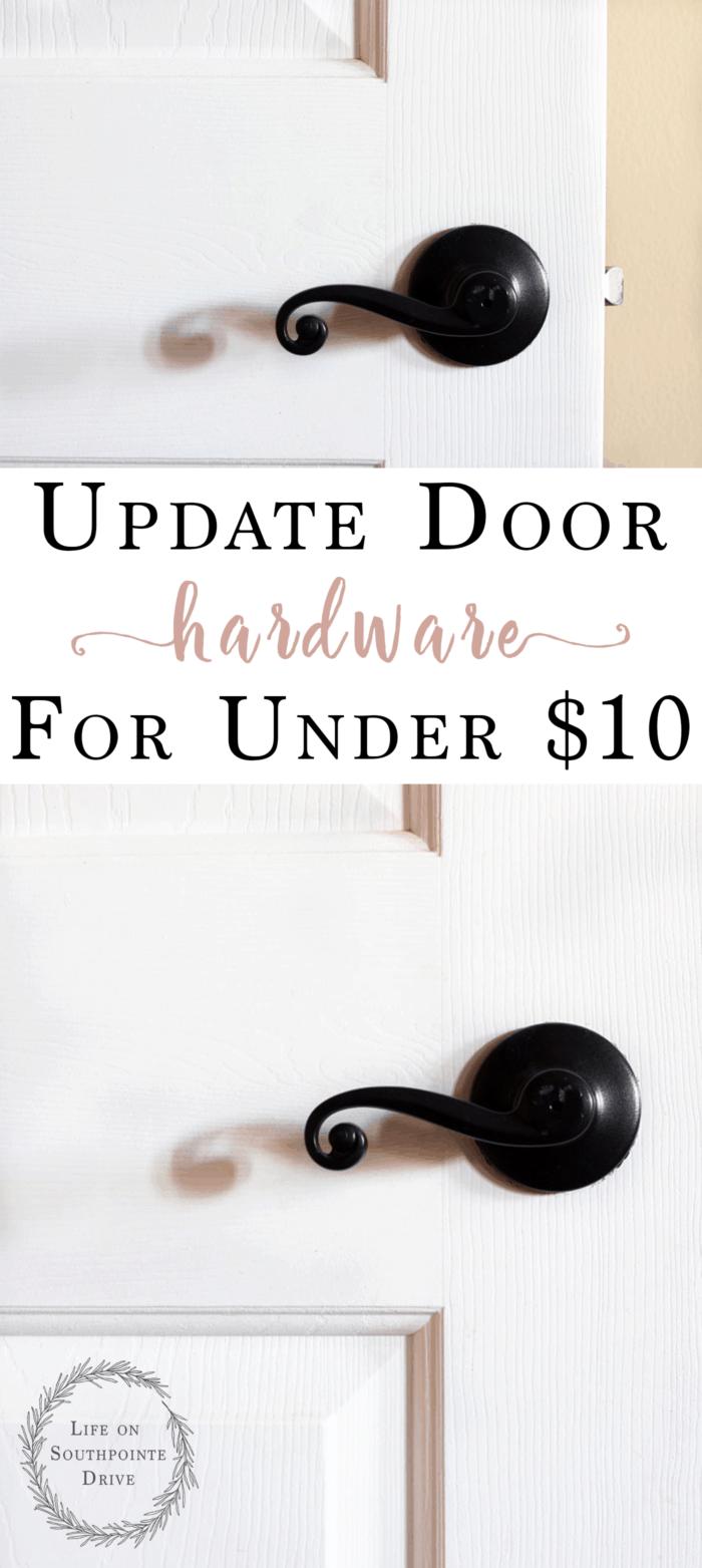 Update Door Hardware for Under $10, updated door hardware, how to update door hardware, budget friendly door hardware, spray painted door knobs, oil rubbed bronze spray paint