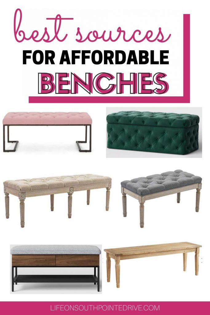 Affordable benches for your home