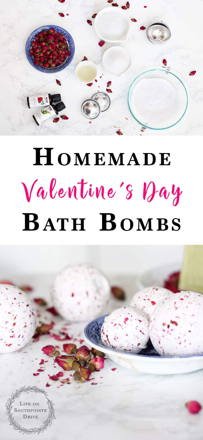 Homemade Valentine's Day Bath Bombs