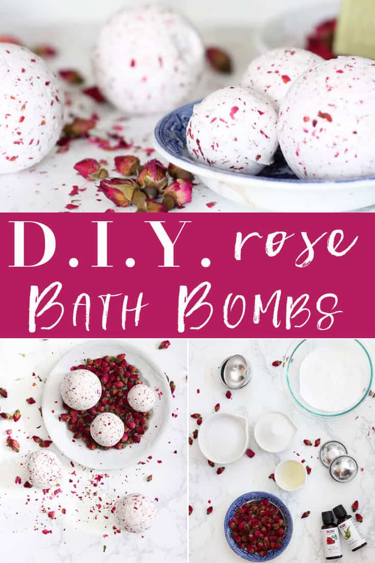 DIY Rose Bath Bombs | You don't have to go out to the store to get amazing bath bombs! Follow this easy step-by-step tutorial to make your own at home!