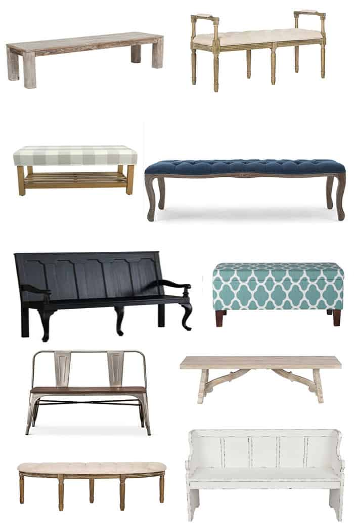 Where to find farmhouse benches affordable decor for the for Affordable home accessories