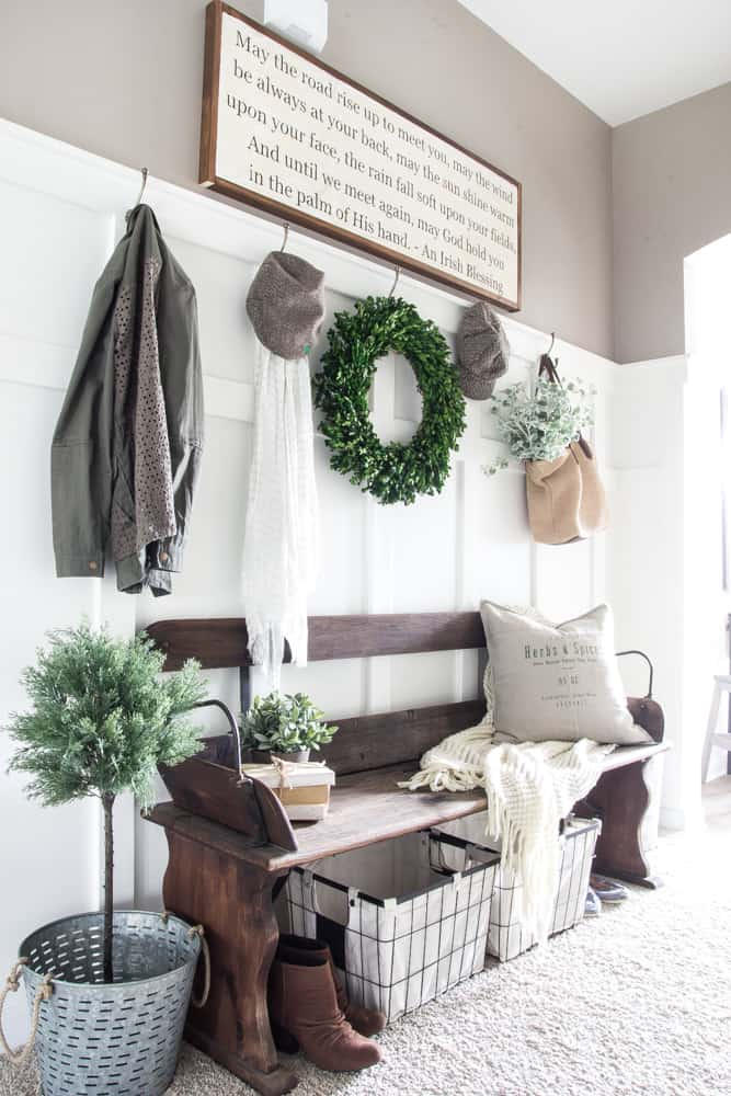 By Using Wood Tones, Inviting Colors, And Tons Of Vintage My Entryway Will  Be A Mix Of Farmhouse Meets French Country! Check Out The Plan For The  Entryway ...