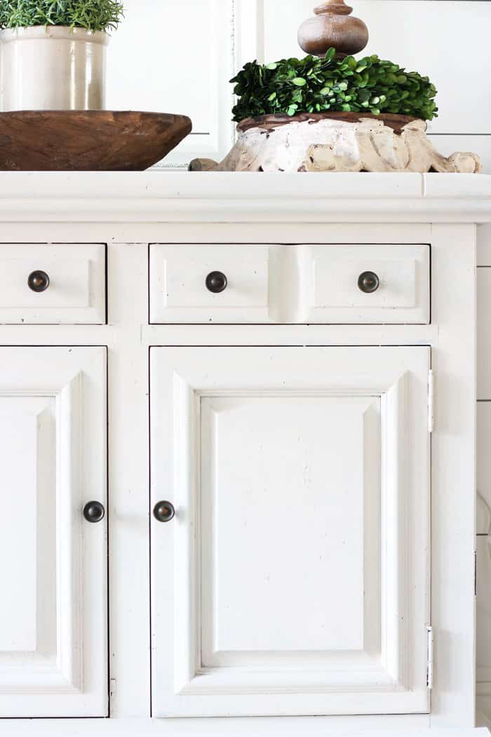 Painting a dresser with milk paint