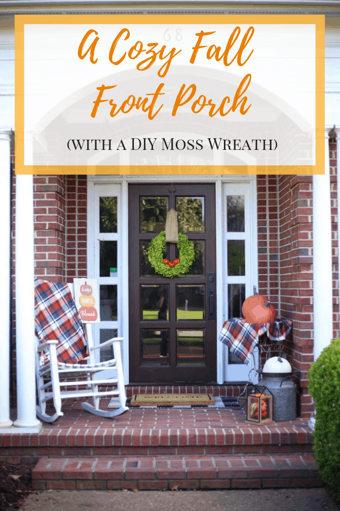 DIY Fall Moss Wreath - Cozy Fall Front Porch - Fall Front Porch