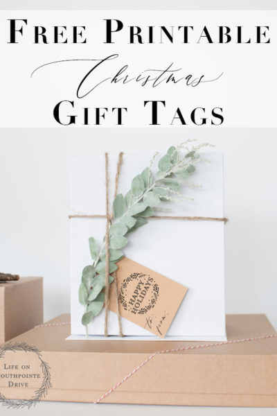 Christmas Gift Tags | I love these super cute Christmas gift tags! These would add such a personal touch to my gift wrapping!