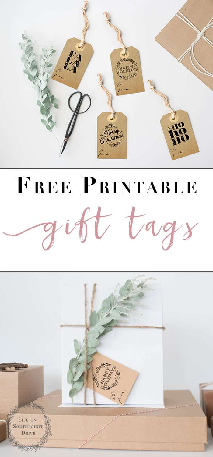 Free Printable Gift Tags | I love the cute quotes on these adorable Christmas gift tags! These will add such a personal touch to my gift wrapping.