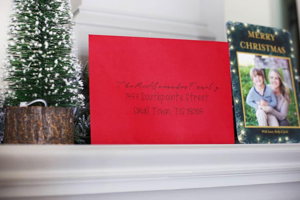 Addressed Christmas Cards.Address Christmas Cards With The Cricut Cobalt Explore Air 2