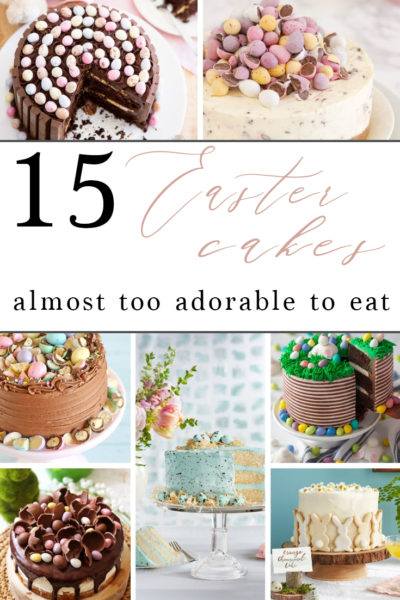 These 15 Easter cakes are almost too adorable to eat. You've got to give some of these yummy Easter dessert recipes a try! | Easter dessert, Easter cakes, Easter bunny cake, cake recipes #easter #cakerecipes