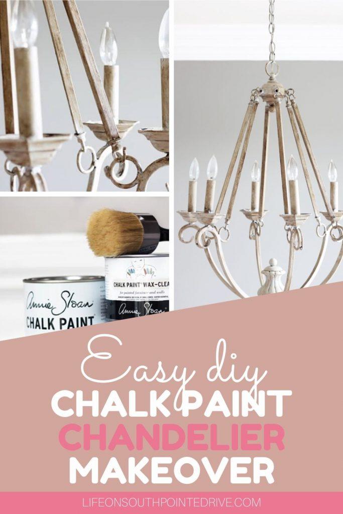 Chalk Paint Chandelier Makeover