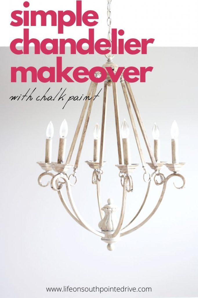 Simple Chandelier Makeover