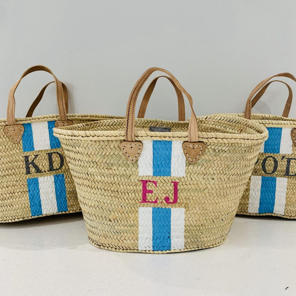 Maya - Monogrammed Straw Basket