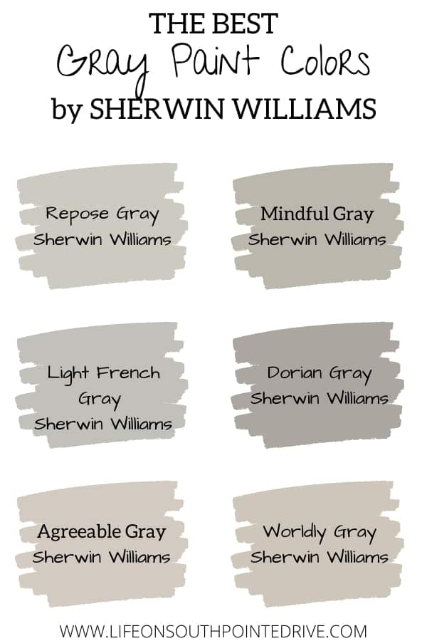 Best Gray Paint Colors Sherwin Williams