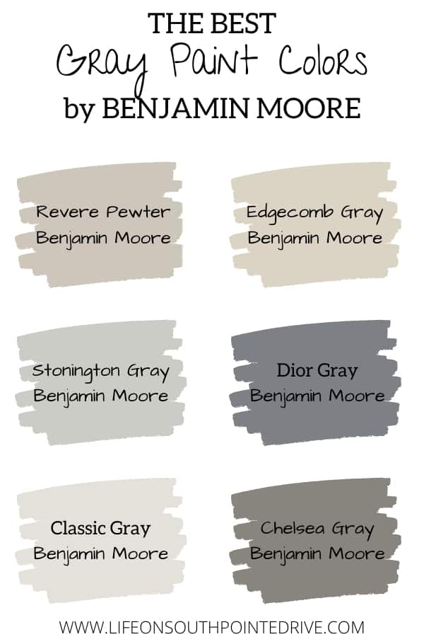 Best Gray Paint Colors Benjamin Moore