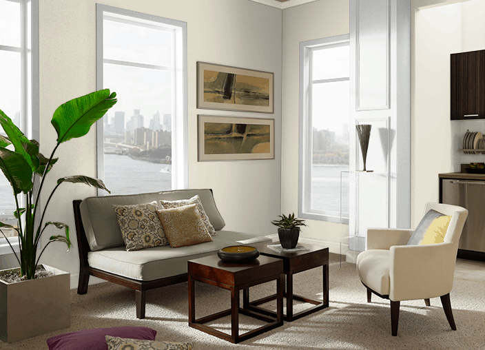 Behr Stonewashed Living Room